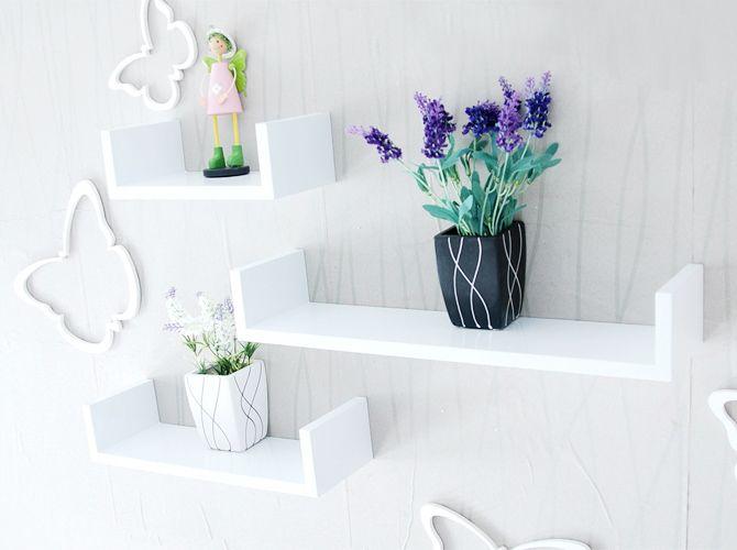 Astonishing Floating Wall Shelf Wall Decor 3 Pieces White Wall Shelf Download Free Architecture Designs Aeocymadebymaigaardcom