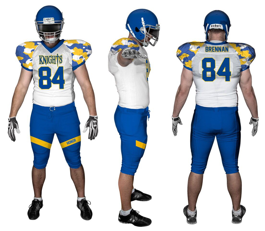 Sublimated Football Jersey And Pants With Traditional Camouflage Football Uniforms Football Jerseys Lacrosse Jersey