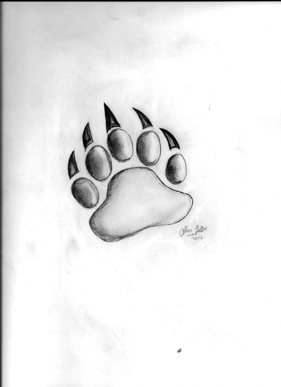 Tattoo ideas names on chest bear paw drawing by aletsonjrviantart on deviantart