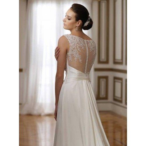 Vestido simple, con algunos detalles en la parte trasera. | boda ...