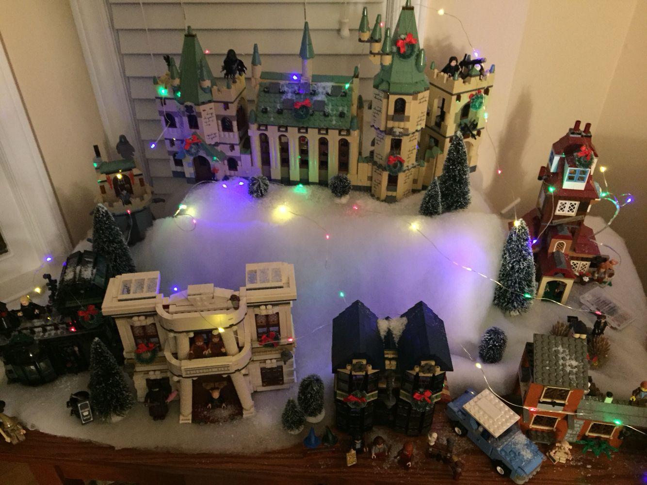 harry potter lego christmas village lego christmas village christmas villages lego harry potter