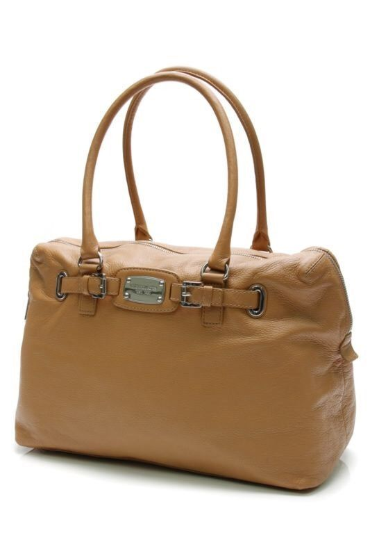 f1276b7a82b212 Michael Kors Hamilton Large Leather Weekender Gold Tote Handbag Free  Shipping | eBay