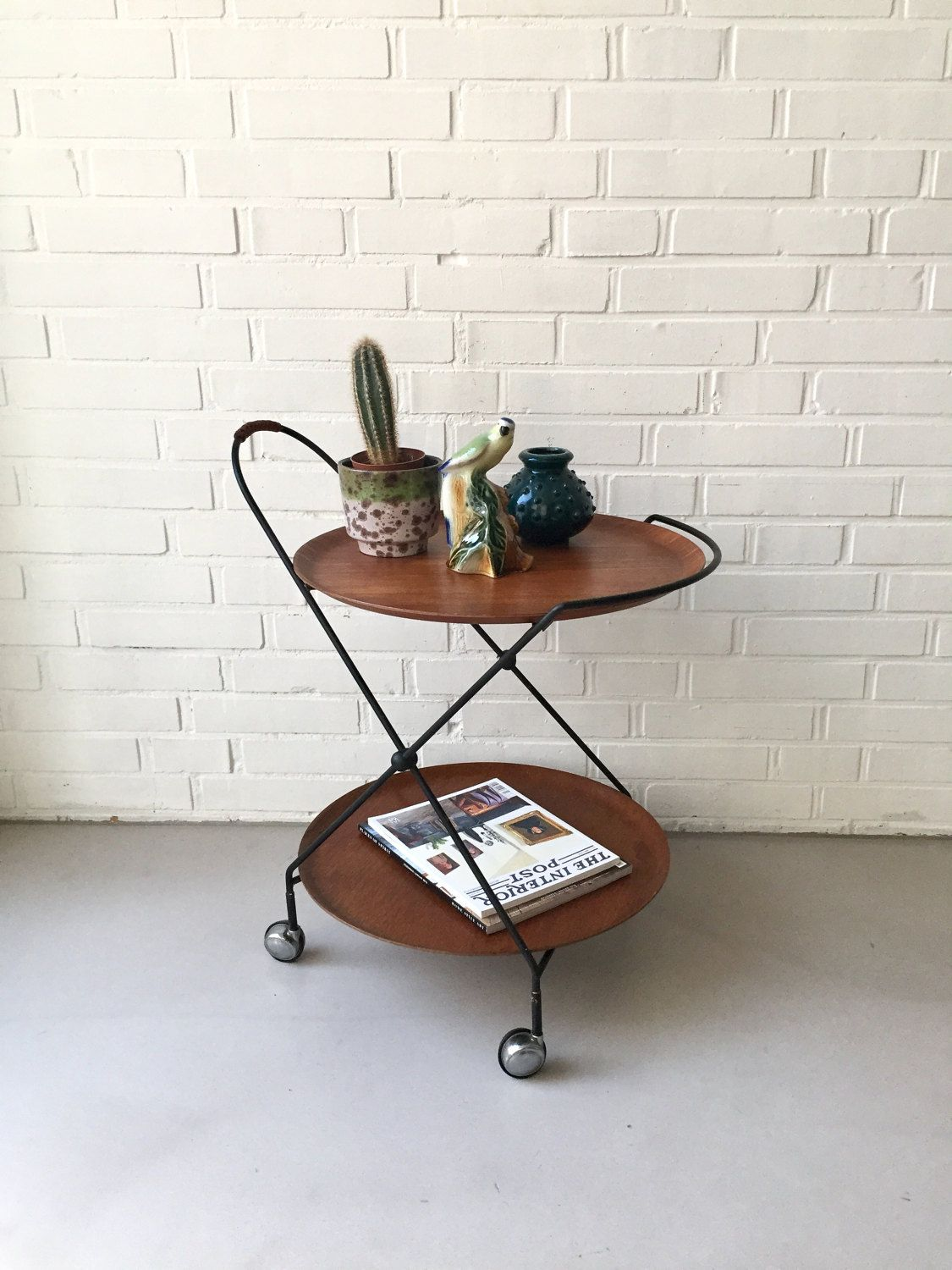 Design Servierwagen reserved for cecilia vintage tea cart teak trolley sweden mid