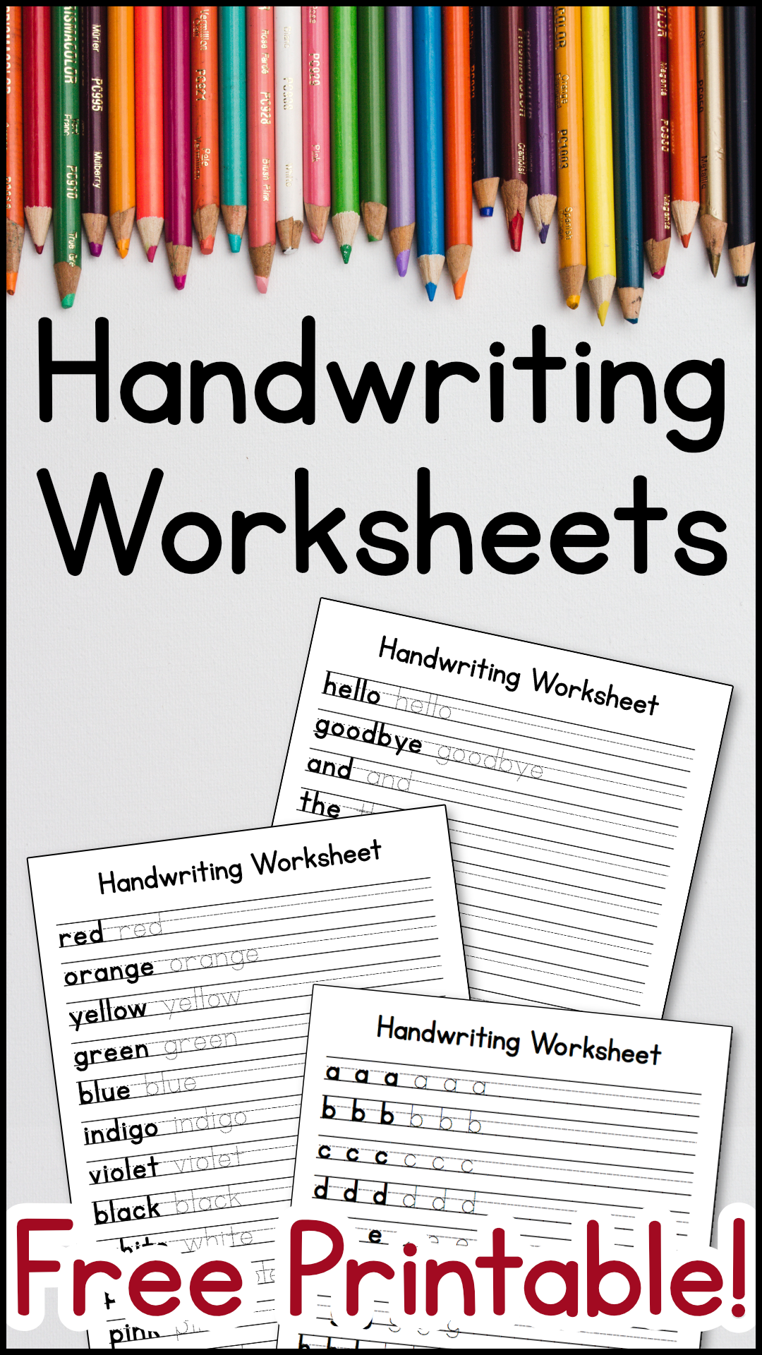 Handwriting Worksheets Free Printable