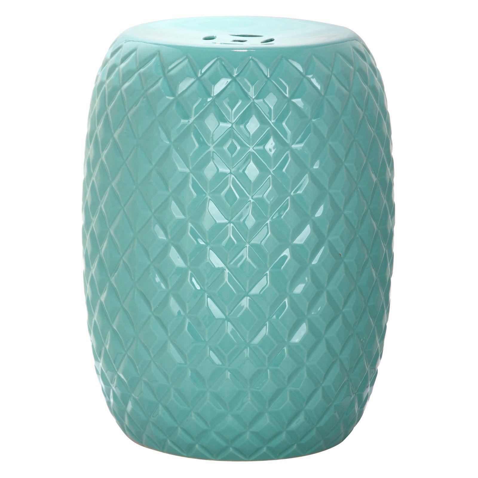 Outdoor Safavieh Calla Garden Stool Light Blue Ceramic