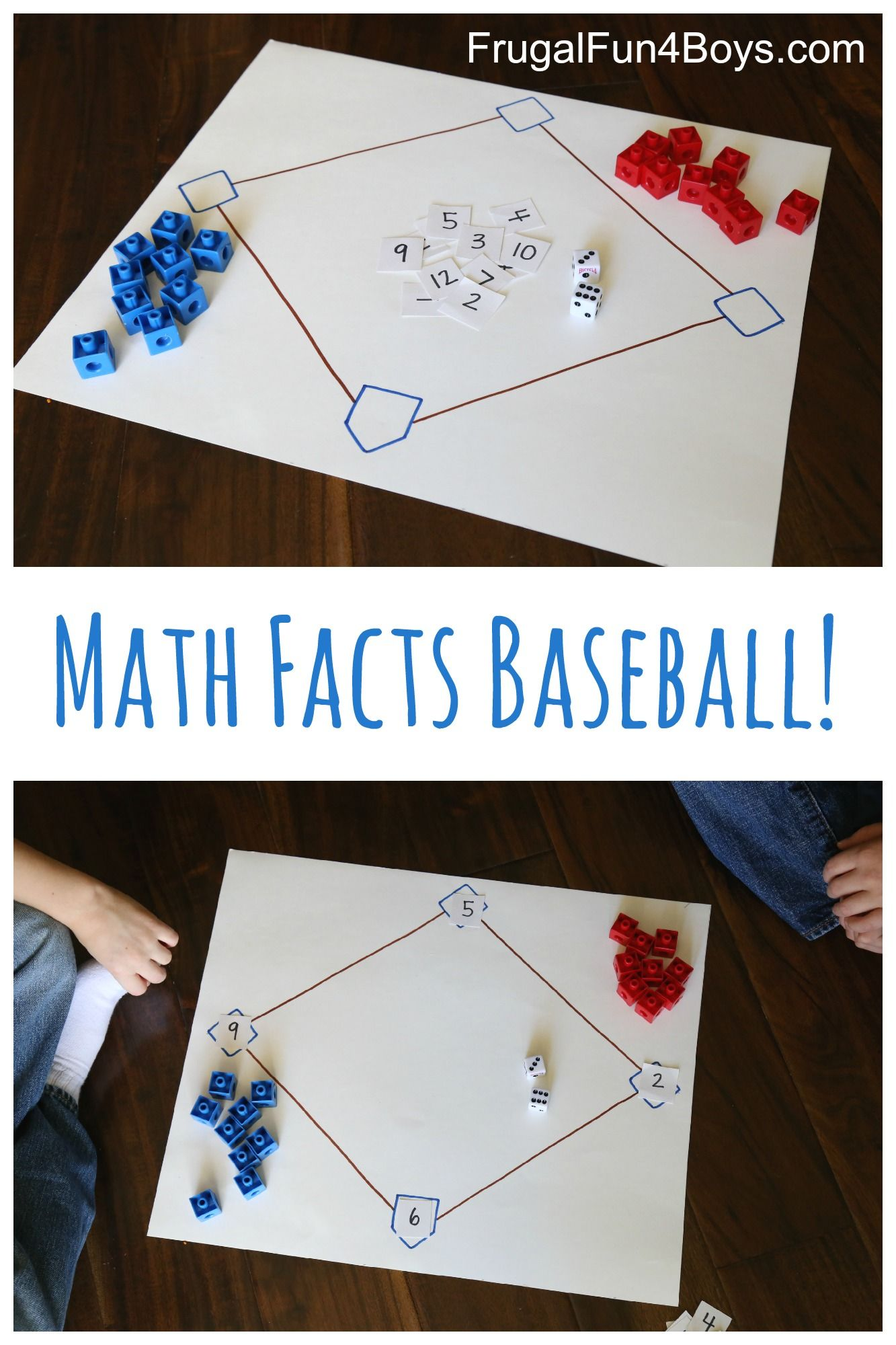 Math Facts Baseball An Awesome Way To Practice Math Frugal Fun For Boys And Girls Math Facts Math Methods Homeschool Math