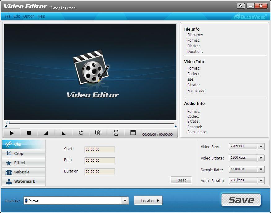 BlazeVideo Video Editor (PC) Free Software License