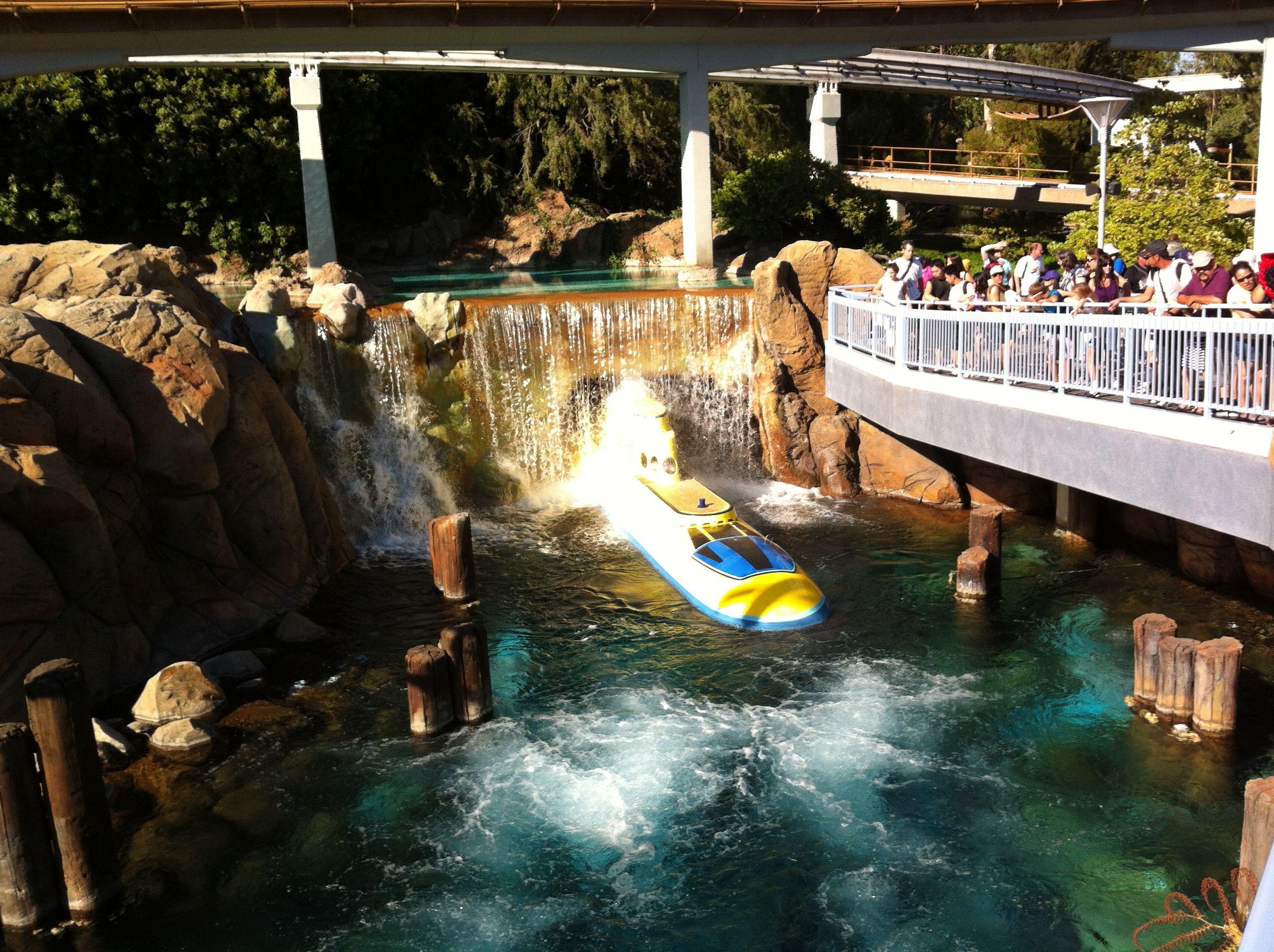 Submarine ride at Disneyland.