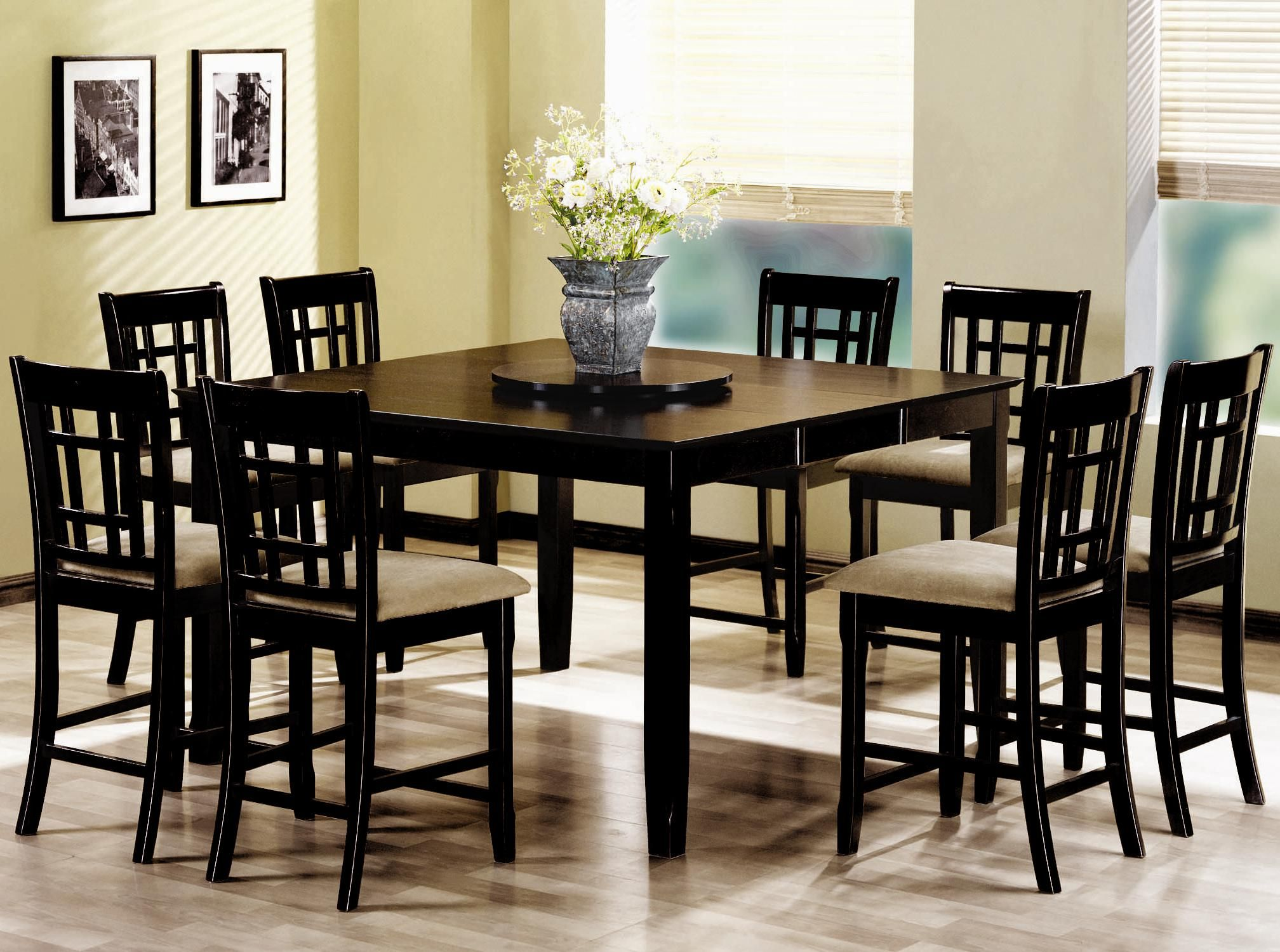Illustration Of Counter Height Dinette Sets  Perfect Dining Room Beauteous 8 Pc Dining Room Set Design Inspiration