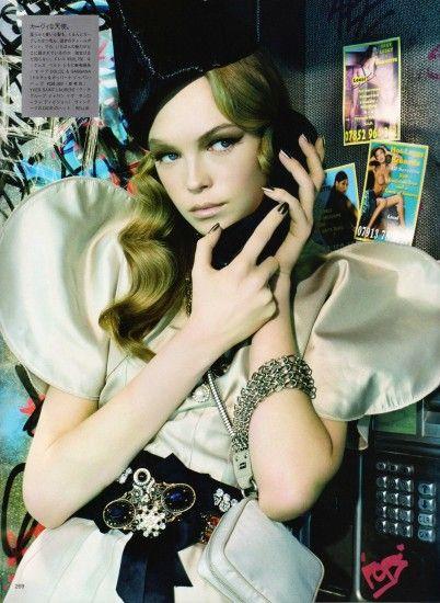 Siri Tollerod by Miles Aldridge for Vogue