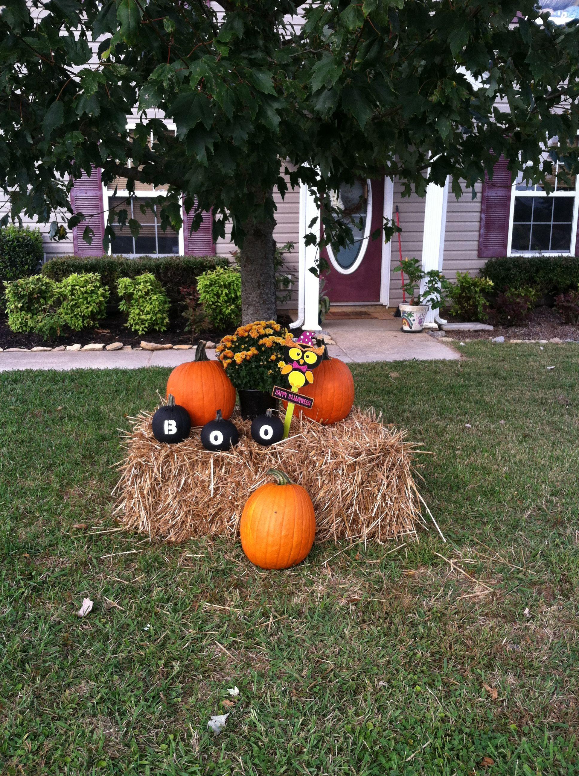 Fall Halloween outside DIY Fall yard decor, Outside fall