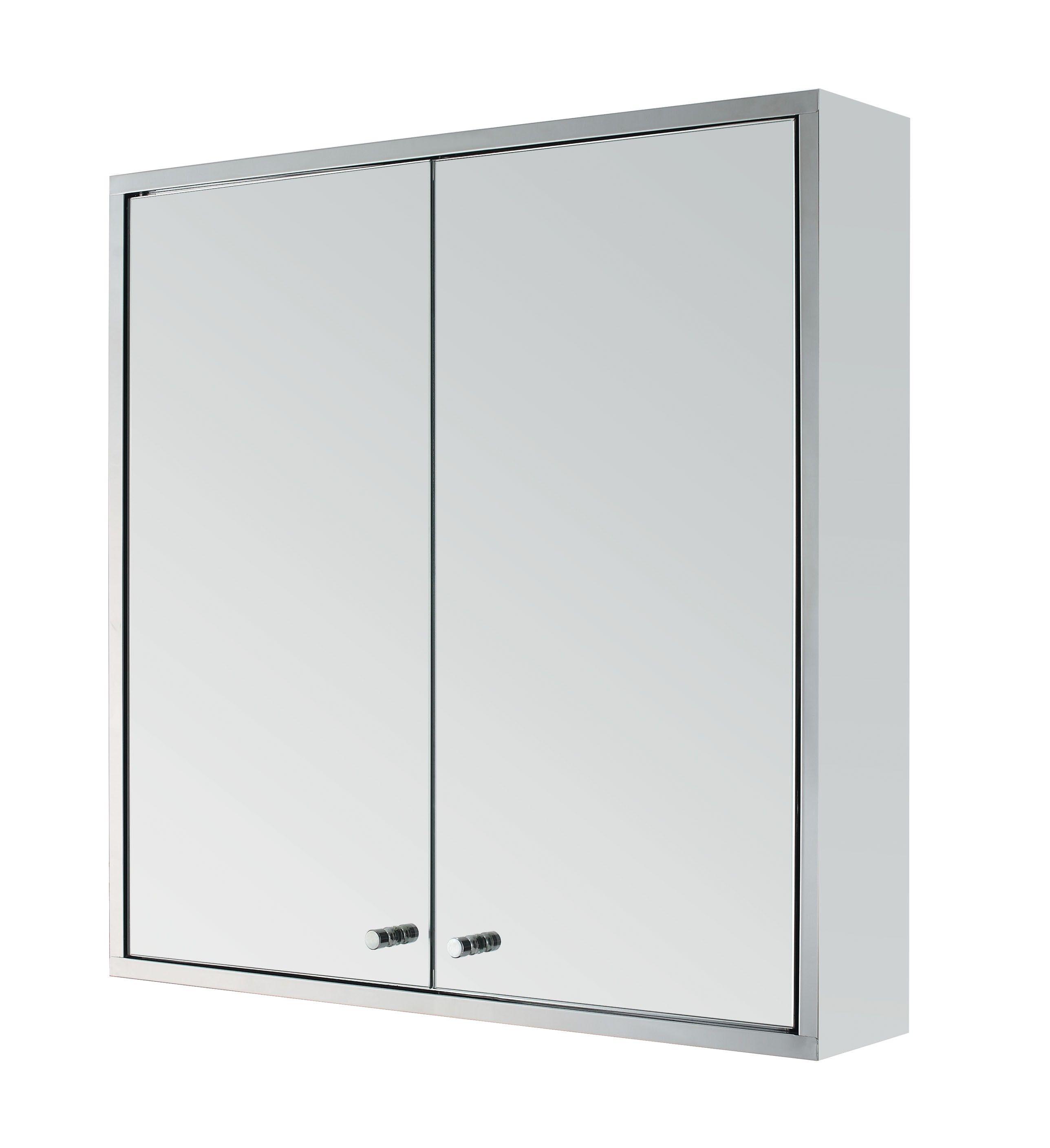 stainless steel double door wall mount bathroom cabinet storage from ...