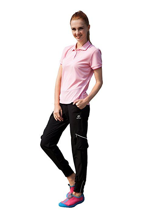 Womens Outdoor Casual Pants Quick Drying Hiking Trousers Pencil Skinny Climbing Pants (M, Black)
