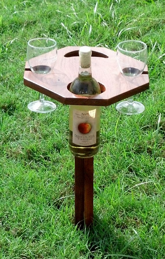 Wine Picnic Table By GroovyGrouperGoodies On Etsy, $50.00