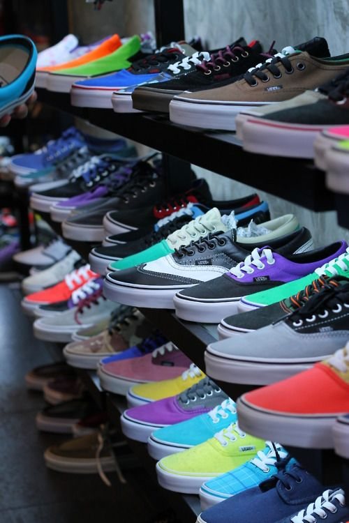 Like a kid in a candy shop! Except the shoes cost a LOT more than ...