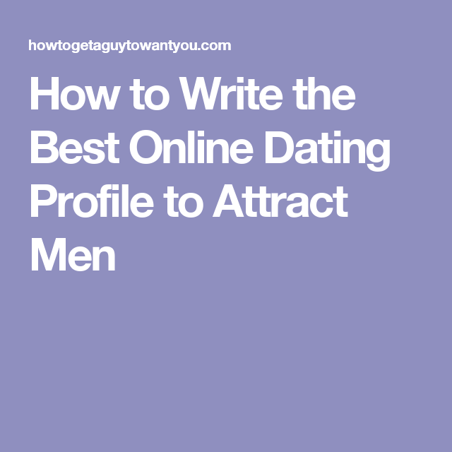 Writing a personal profile online dating