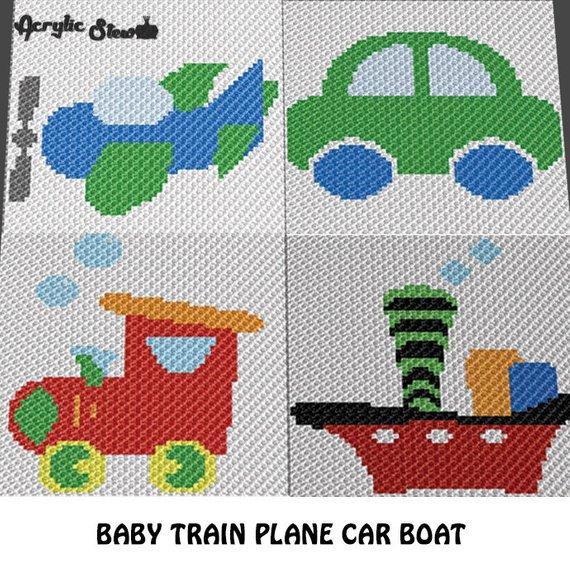 Baby Graphgan Pattern - Corner to Corner - C2C Crochet - Little ...