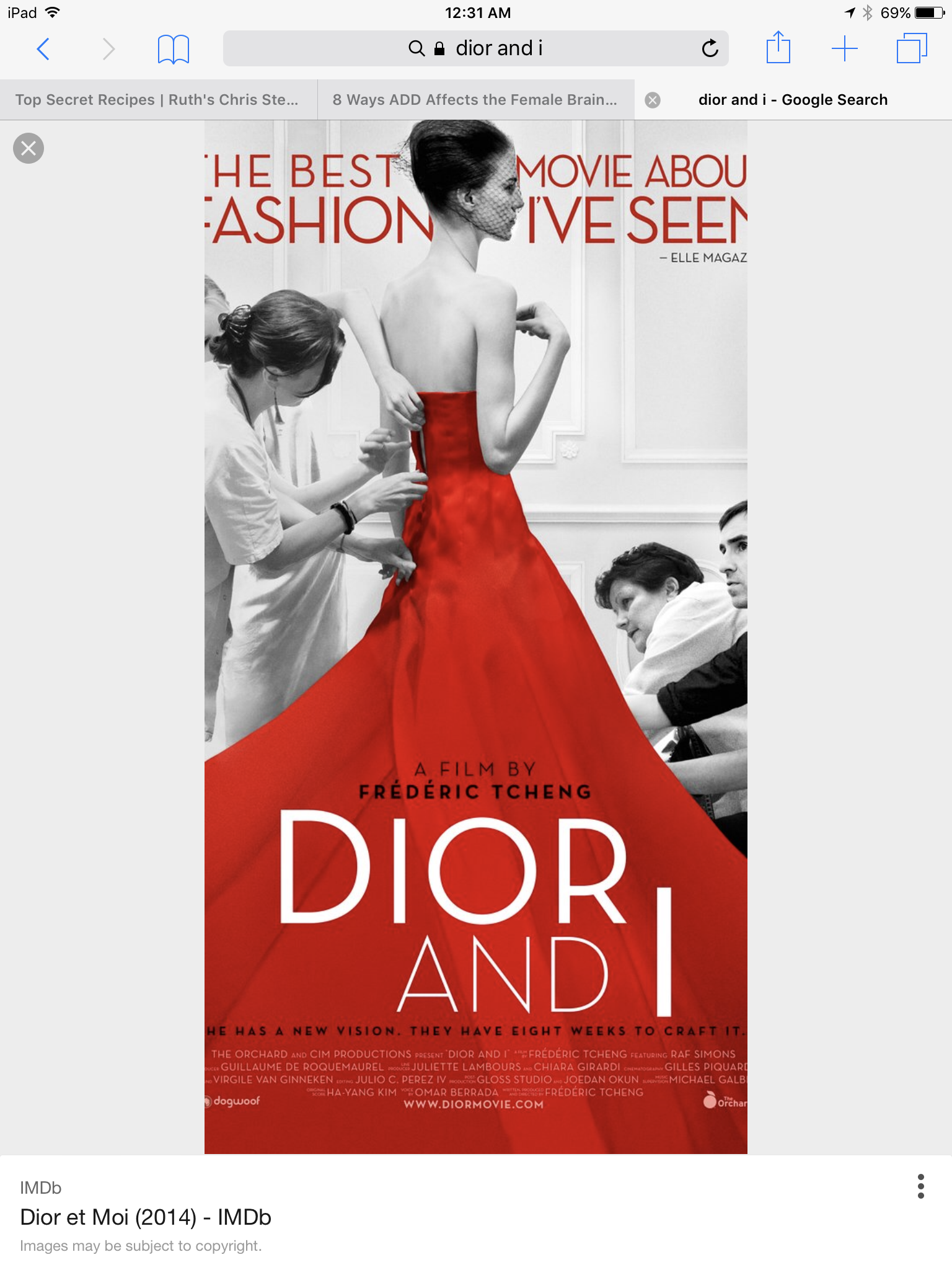 Dior and I is a 2014 documentary film written and directed