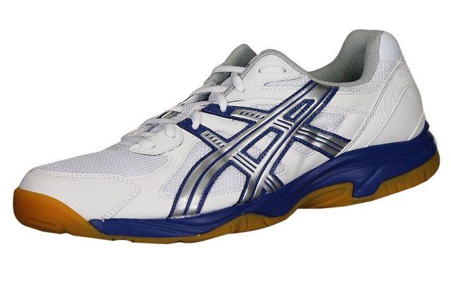 Asics Gel Doha Men White Blue | Asics Squash Shoes | Asics