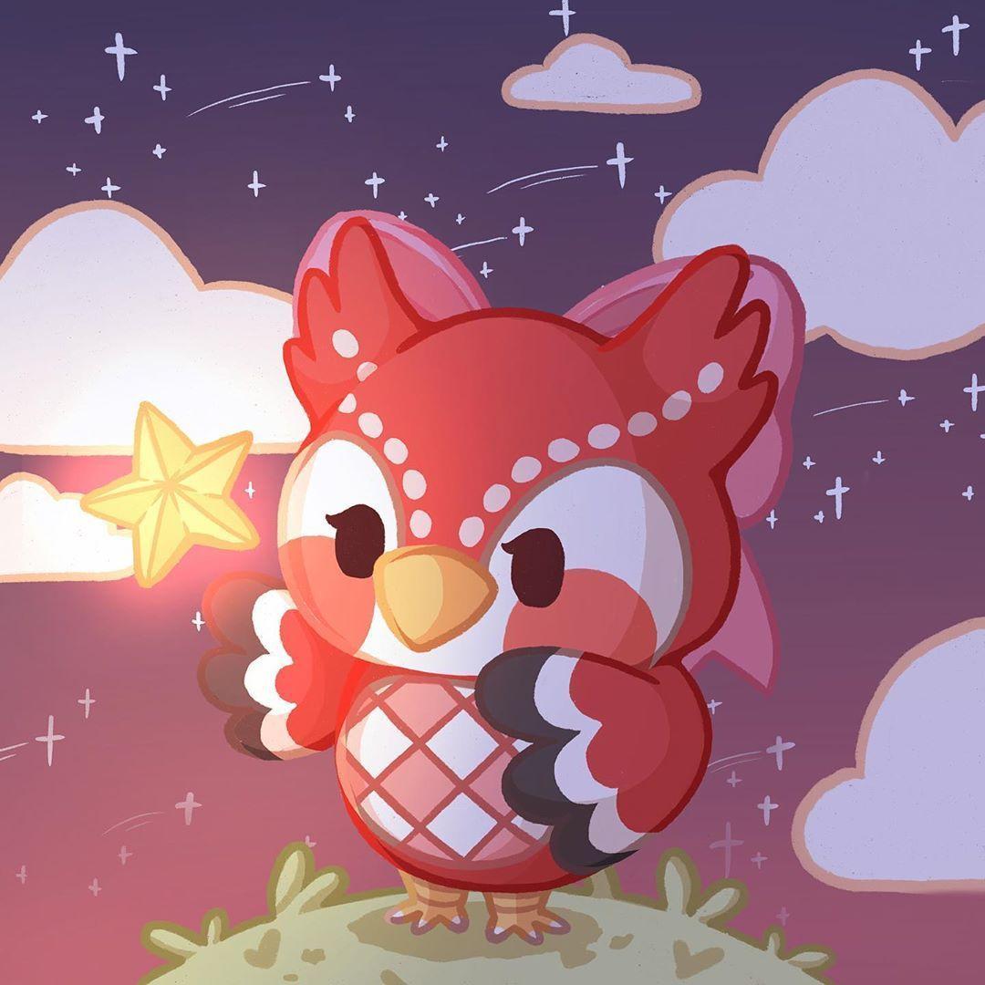 L I Z On Instagram Celeste Animal Crossing Celeste Is Adorable Animal Crossing Fan Art Animal Crossing 3ds Animal Crossing Characters