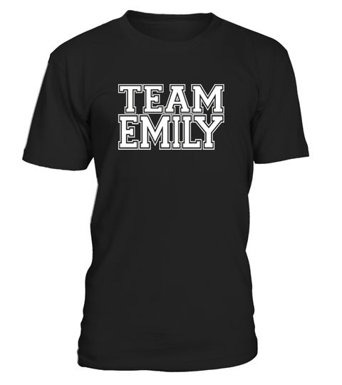 # TEAM EMILY Jersey T-Shirt .  CHECK OUT OTHER AWESOME DESIGNS HERE!      Perfect gift for parents and friends of people named Emily. Weddings, soccer, sporting events, for the groom or bride during the bachelor or bachelorette party, bridal shower, birthdays, Christmas, anniversaries, and everyday gift ideas!      TIP: If you buy 2 or more (hint: make a gift for someone or team up) you'll save quite a lot on shipping.        Guaranteed safe and secure checkout via:    Paypal | VISA…