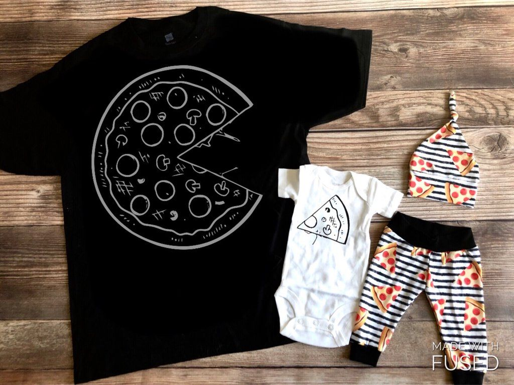 Dad And Baby Pizza Outfit Slice Home Slice Pizza Outfit