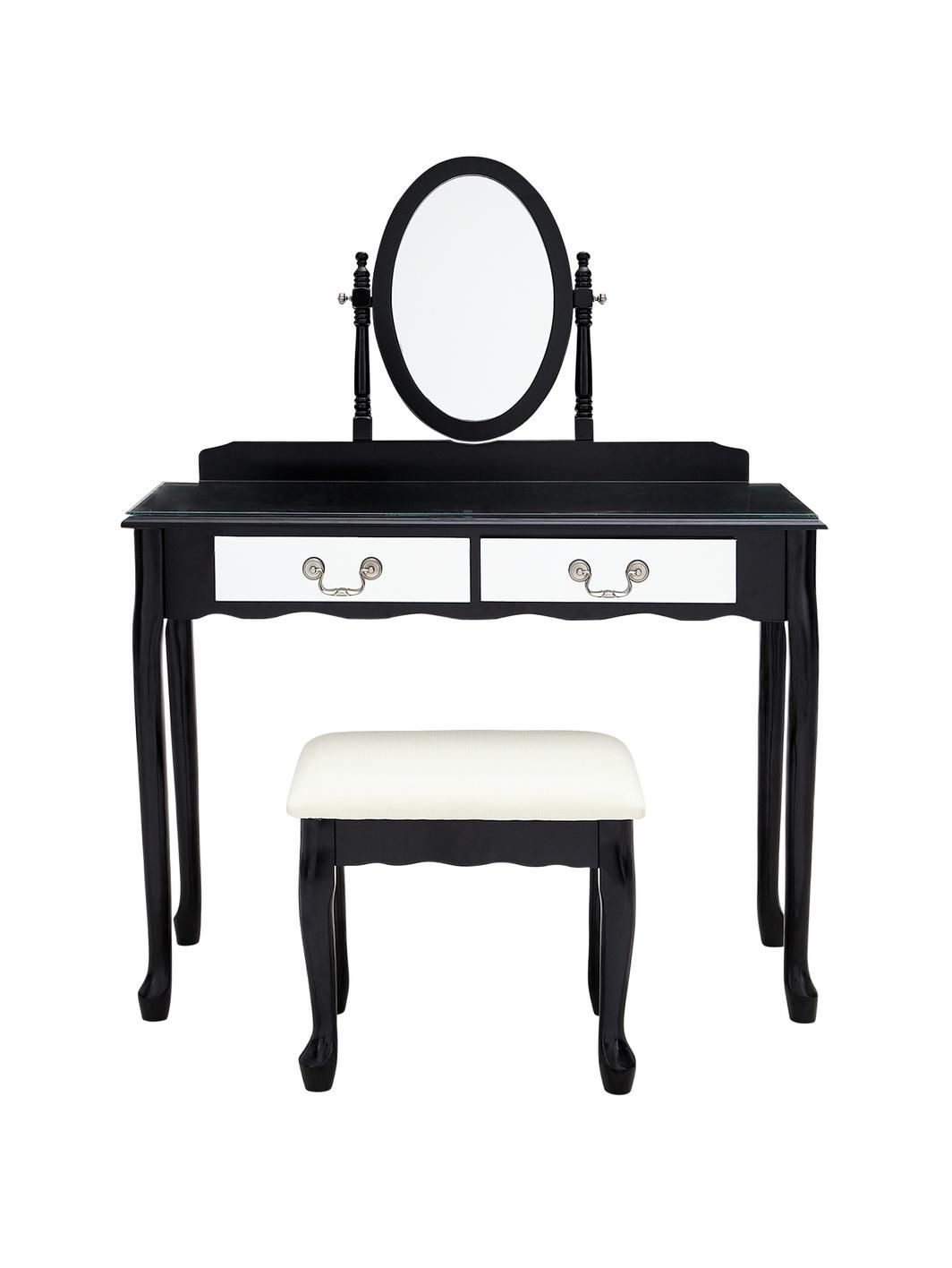 Elysee Mirrored Front Dressing Table and Stool, http://www ...