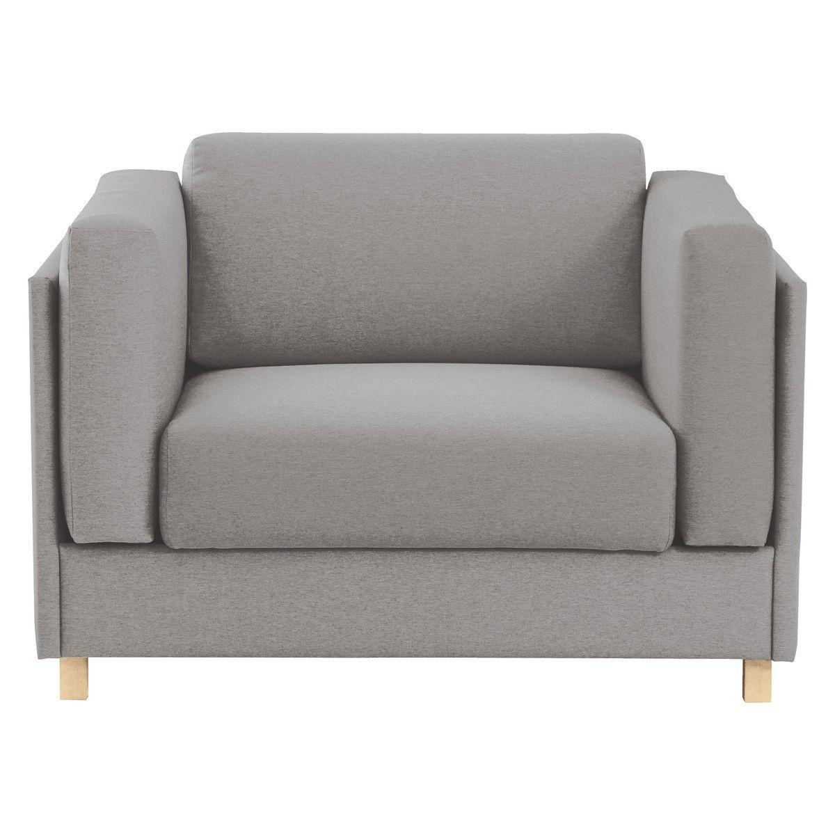 COLOMBO Grey Fabric Armchair Sofa Bed