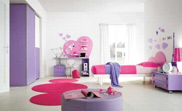 Cameretta Lilla E Bianca : Idee cameretta bimba: arredare una bella cameretta rosa idee