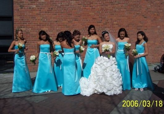 I Love The Tiffany Blue Color Bridesmaids But Think Will Have Everyother One A Purple Dress