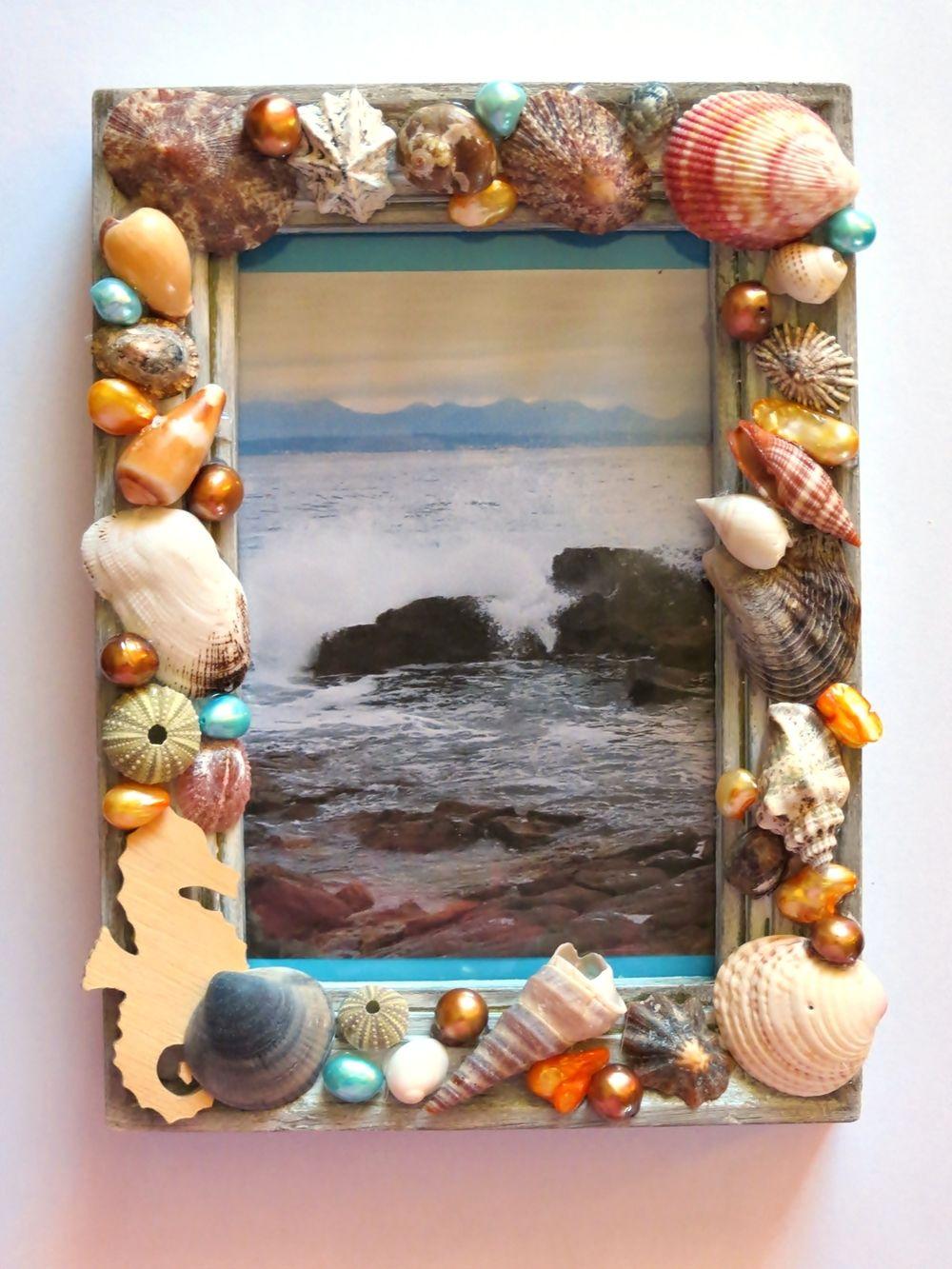 Super Seashells Picture Frame Craft Beach Crafts