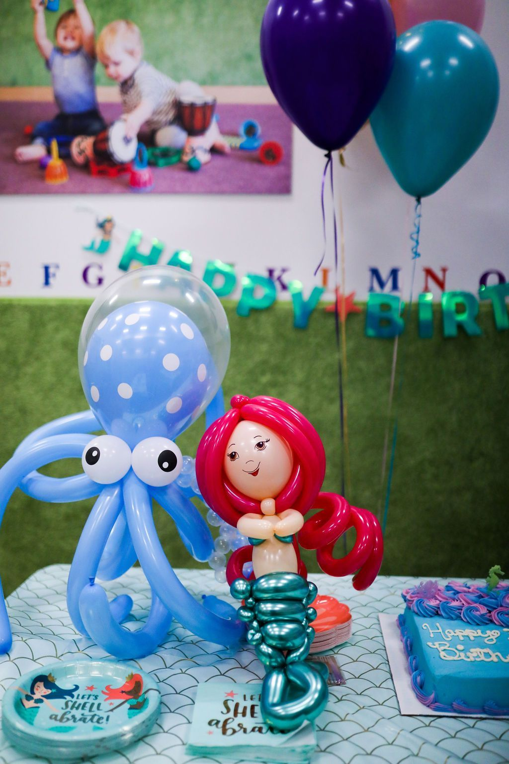 Elles mermaid themed 3rd birthday party gold coast girl