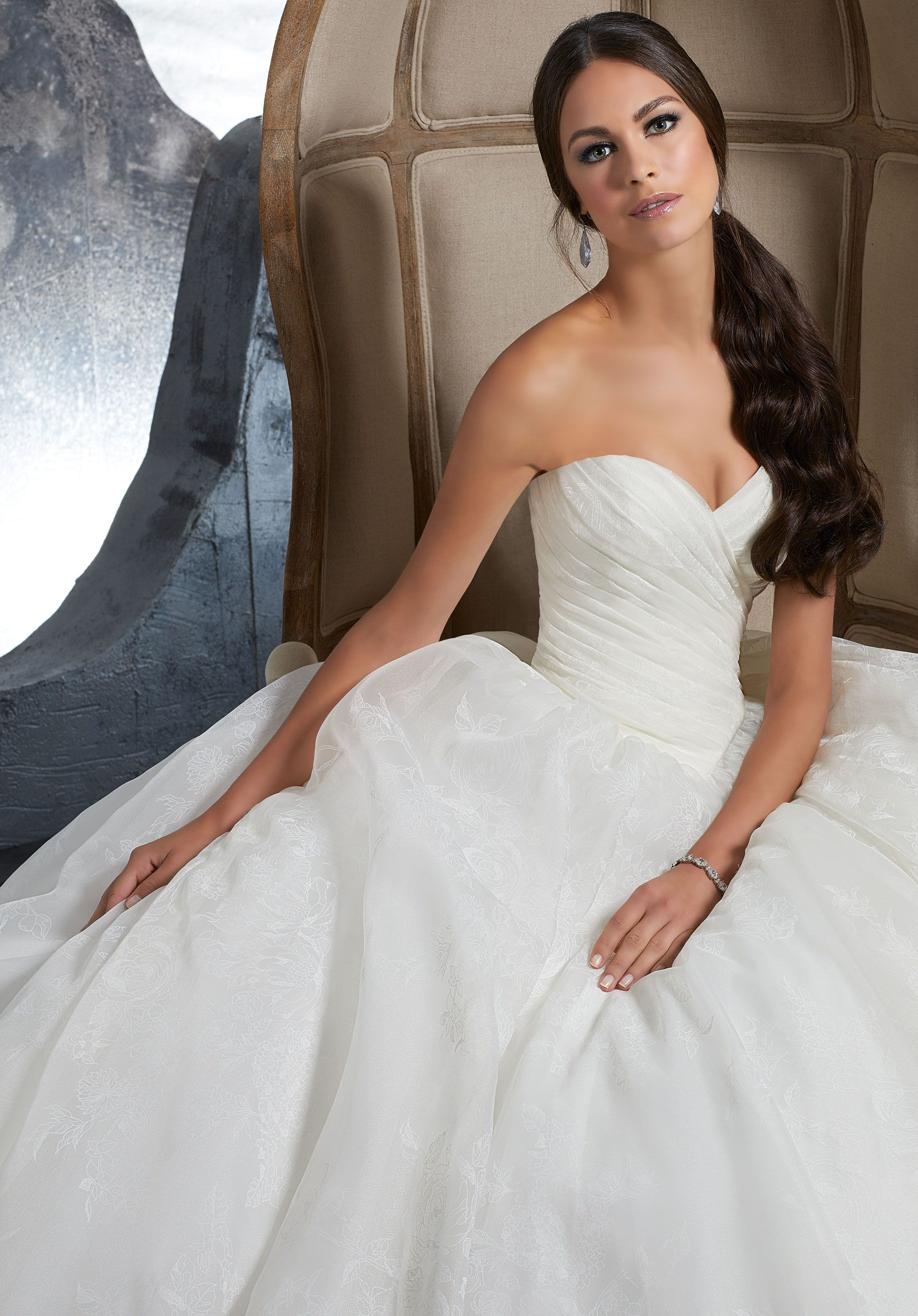 Draped Organza Ball Gown | Mori Lee | Pinterest
