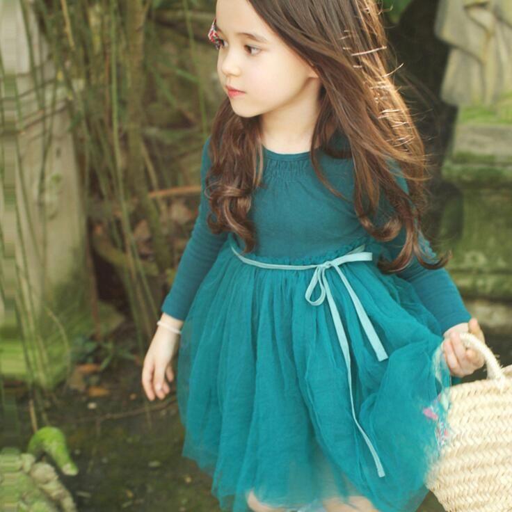 35f6c179bb245 Toddler Baby Girl Clothes Kids Tutu Lace Dress Long Sleeve Princess ...