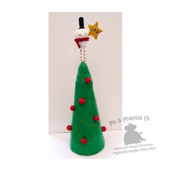 Sammy Snowman  the Tree by PigAndPumpkin Handmade Pinterest