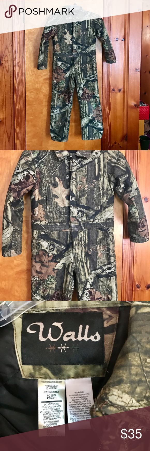 boy s walls zero zone insulated coveralls 10 reg boy s on walls hunting clothing insulated id=88023