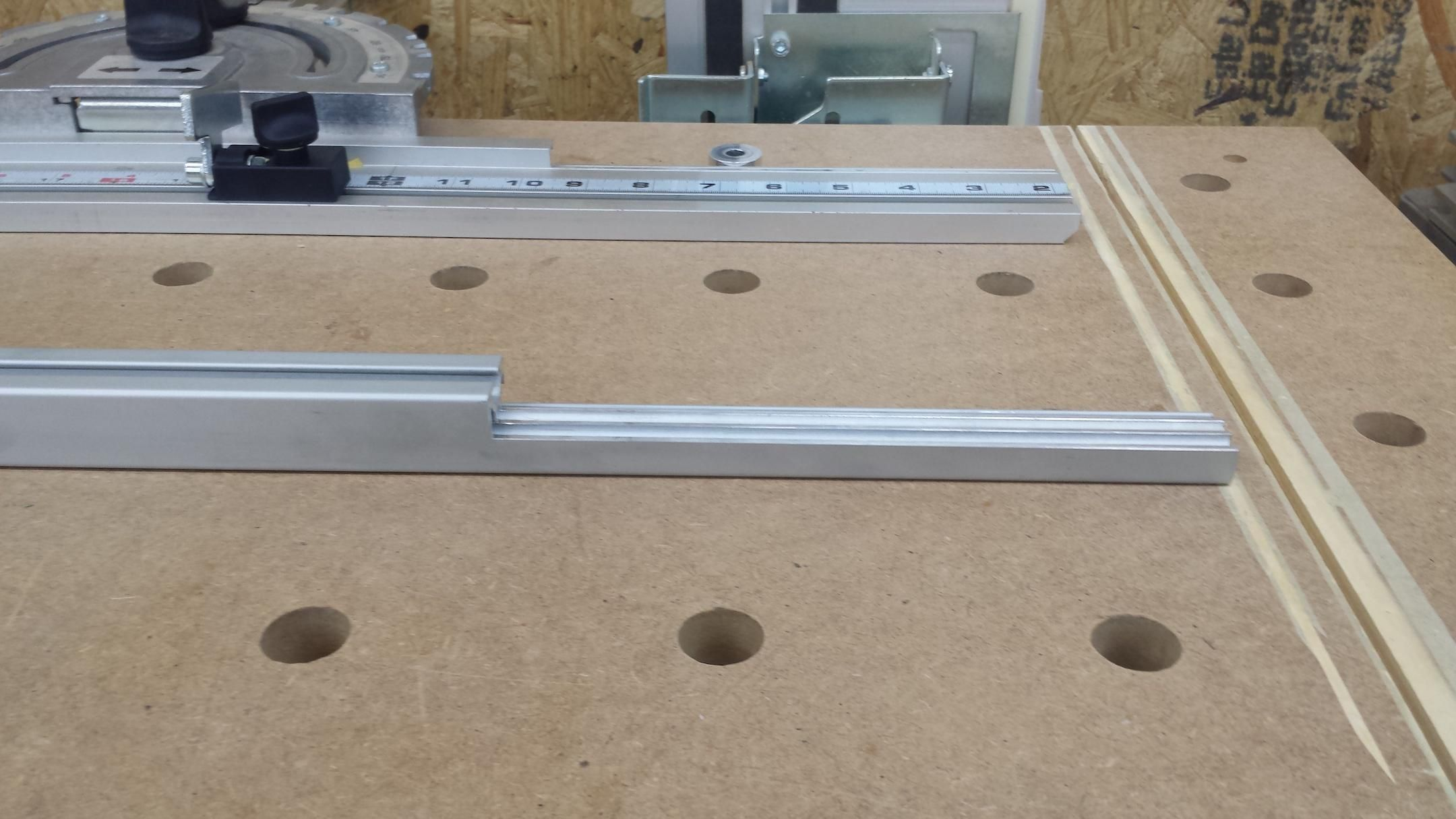My New Mft 3 Stop Fence With 80 20 Aluminum Festool Fence