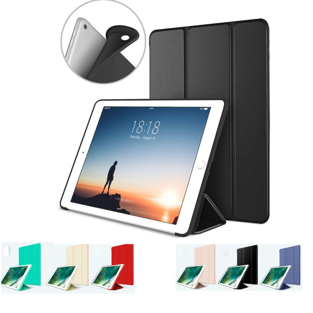 Ipad 6th Generation 2018 9 7 Slim Magnetic Silicone Smart Cover Case For Apple Ipad 6 Case Cover Ipad