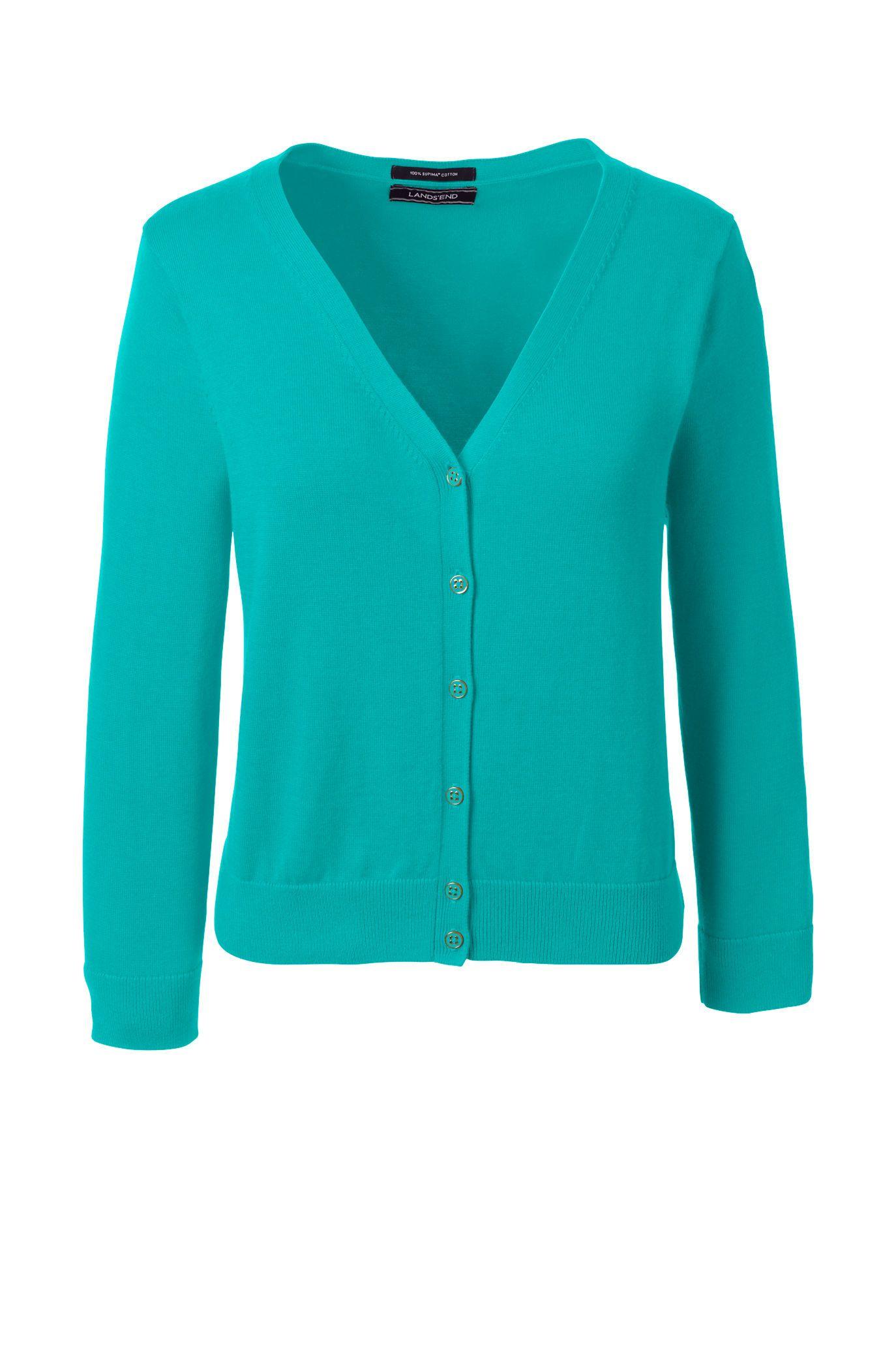 Women's 3/4 Sleeve Supima Dress Cardigan Sweater | CLOTHES, ETC ...