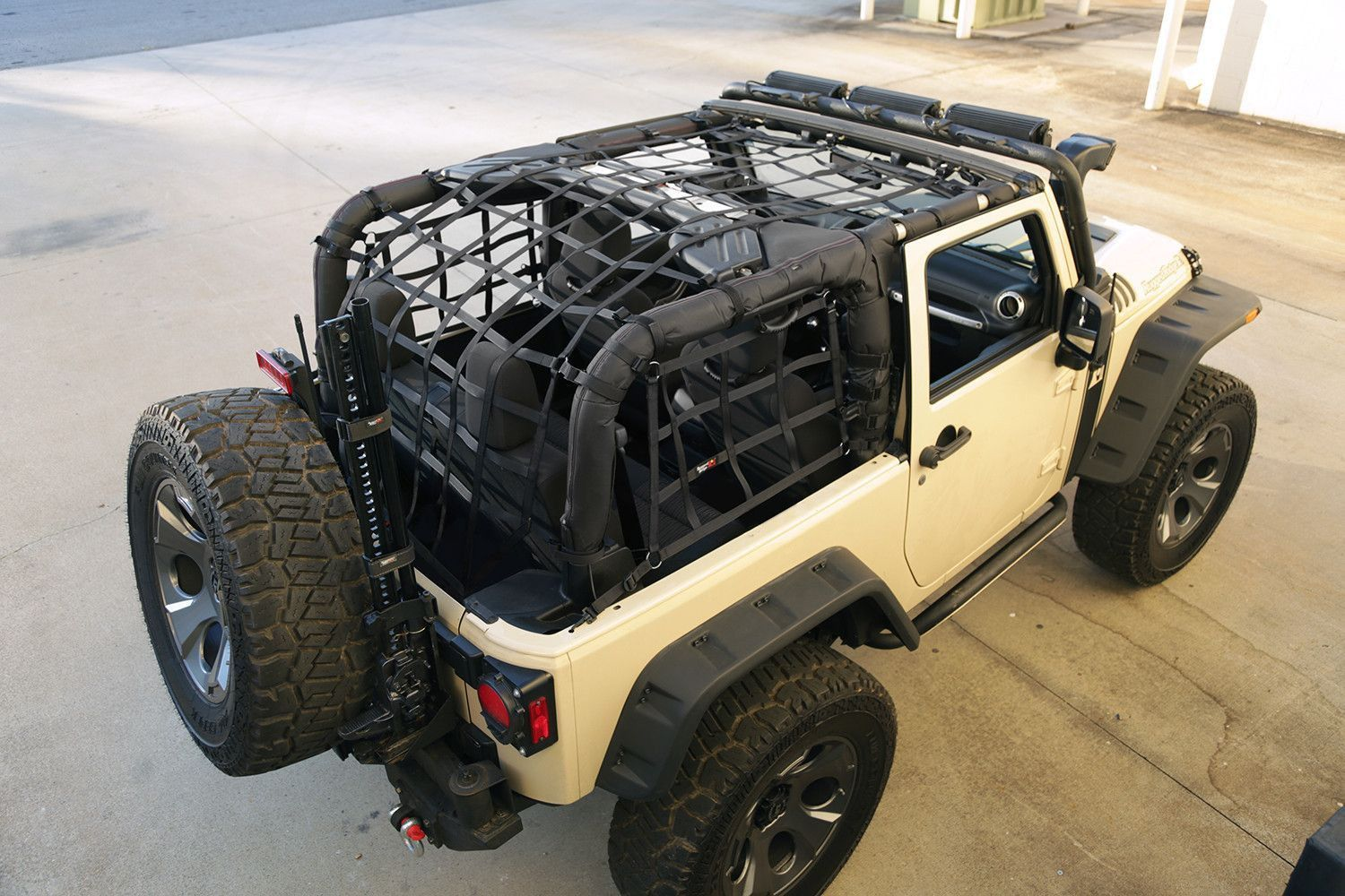 Cargo Net Black 07 16 Jeep Wrangler Jk 2 Door Jeep Wrangler