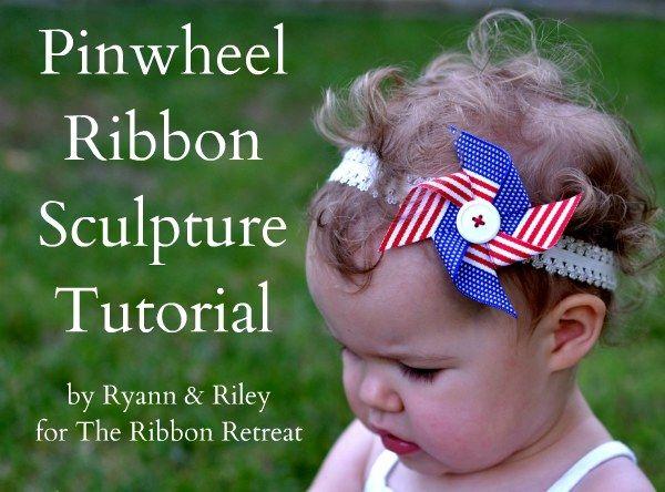 cute pinwheel ribbon for a headband.