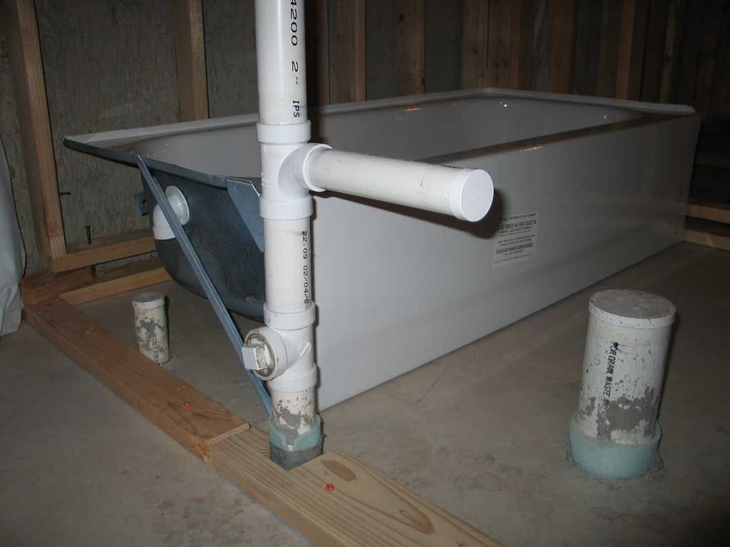 Basement Bathtub Installation How Install Plumbing For Bathroom