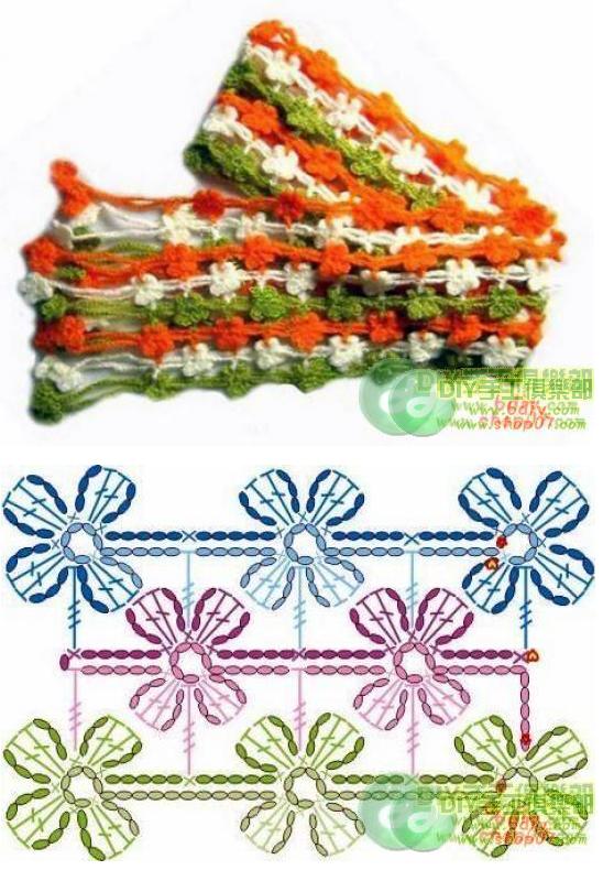 Patrones de Crochet | Scarfs in Crochet | Pinterest | Patrones de ...