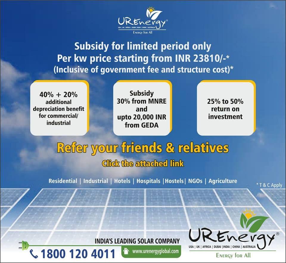 Rooftop Solar Panel Inverters Water Pump Solar Epc Gujarat India U R Energy Solar Solar Projects Solar Panels For Home