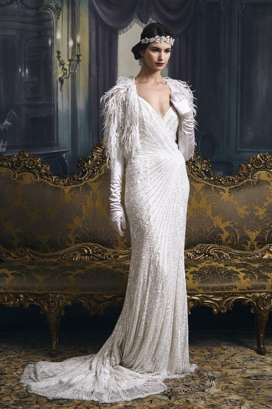 Vintage-Inspired Wedding Dresses Flapper