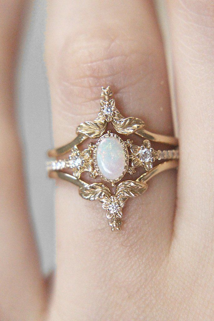 Photo of Moon fog flower ring | Heart jewelry | Twignolia Collection | 14 carat yellow gold …