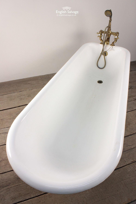 Salvaged Green Enamel Roll Top Bath | Bath Bits | Pinterest | Roll ...