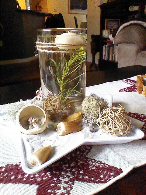 Dollar Tree Star Tray And Gl Vase Filler Floating Candle From Michaels Sand Shells The Beach