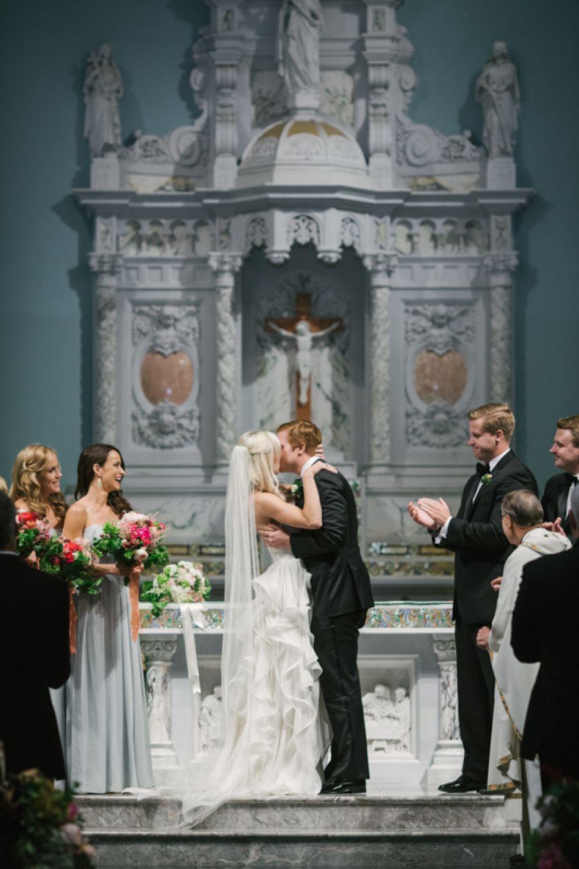 Catholic wedding dresses  Pin by Style Me Pretty on Weddings  Pinterest  St monica catholic