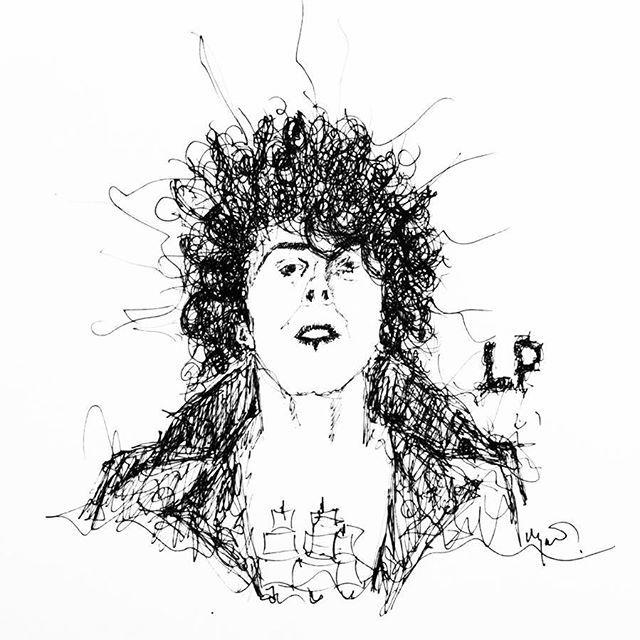 LP - Lost On You 🎵 #laurapergolizzi #lostonyou #sketch #sketchbook